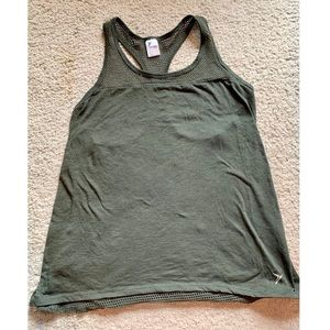 Old navy active wear tank with mesh back